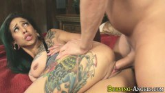 Veronica Rose inked alt babe with big breasts and Yoga pants gets drilled