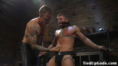Muscled domination dom cocksucked by buff sex slave