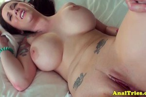 Phat ink girl friend with big boobs gets buttfucked