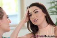 Melissa Moore lesbian masseuse fingers and scissors client