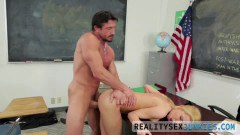 Alina West determined schoolgirl wants teacher's big cock