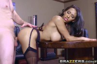 Priya Price ultra hot Latina in stockings gets drilled at the office