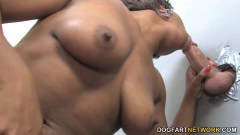 Imani Rose curvy ebony slut tries her first white cock