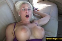 Busty Czech cabbie babe gets fucked on the backseat and jizzed