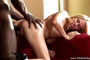 Debutante blonde wife gets plowed with enormous bbc