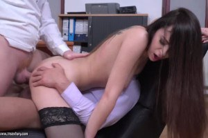 Victoria J beautiful secretary double penetrated at the office