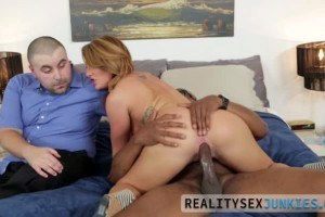Savannah Fox lovely wife rides BBC while hubby watches