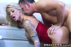 Synthia Fixx blue eyed MILF gets both holes drilled by brother in law