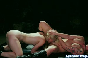 Dahlia Sky and Charlotte Stokely haunted lesbians having fun