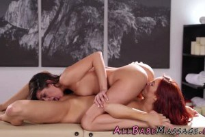 Hottie Olivia Lua massaged and pussylicked by redhead Jayden Cole