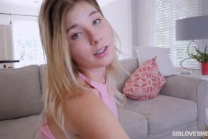 Vienna Rose innocent looking teen facialized by stepbro