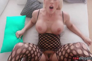 Busty POV MILF interracially screwed in both holes