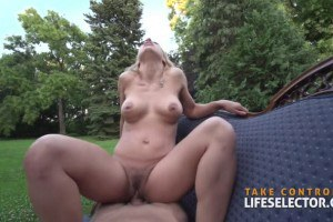 Nikky Thorne busty slut is ready for outdoor fuck
