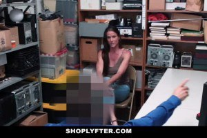 MILF shoplifter lets security guard fuck her to avoid prosecution