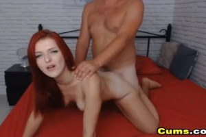 Redhead mistress doggystyled fucked on cam