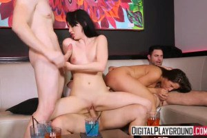 Aria Alexander and Abella Danger get fucked at orgy