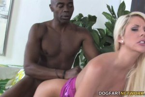 Courtney Taylor cuckolding blonde gets creampied by a big black cock