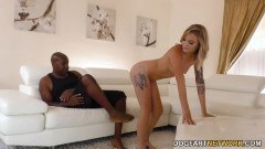 Little Dakota Skye is curious about Mandingo's big black cock
