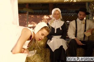 Jillian Janson hot Amish teen gets fucked from behind in front of parents