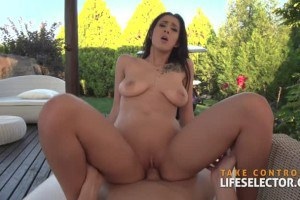 Darcia Lee enticing Hungarian beauty rides cock on the golf course