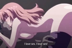 Submissive anime temptress does anal with stranger