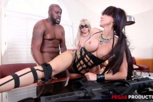 Savana Styles and Alix Lovell two hot spies enjoy the same black cock