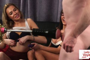 Submissive wanker machine pumped in JOI