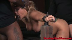 Dominated bigtits chick getting taken from behind