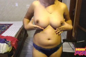 Indian wife with big juicy breasts gets naked on webcam