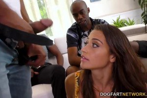 Avi Love enjoys multiple black dicks in her first interracial gang bang