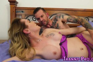 Shemale nailed by horny tattooed guy