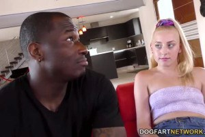 Melody Parker rides her new black friend