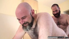 Hair covered chub taken from behind unsaddled by guy
