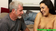Paisley Parker gets fucked by her step grandad after massage