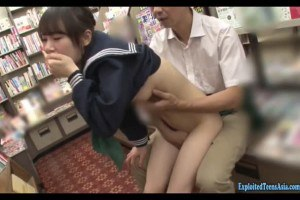Jav schoolgirl fucks older guy at the public library