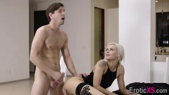 Secretary Elsa Jean gets spermed at the office