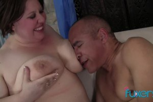 BBW nymph Jelibean titty fucked by her new lover