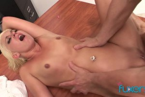 Small tits MILF rubbed and fucked by masseur