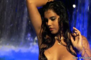 Beautiful Indian Brunette Teases in the Pool