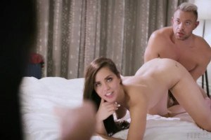 Alina Lopez comforts stepdad in 3way with hot MILF Reagan Foxx