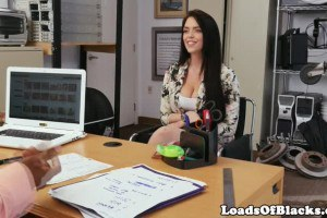 Beautiful Big Ass Brunette Fucked At Casting by Black Agent