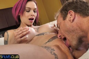 Anna Bell Peaks busty MILF squirts when fucked hard
