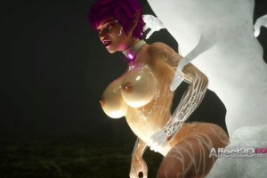 Huge breasts elf bonking with monsters in a new make belief animation game