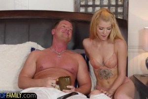 Arya Fae is about to let stepdad play with her tits and pussy