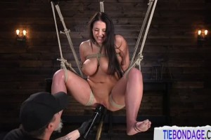 Bondage loving Angela White gets punished by maledom