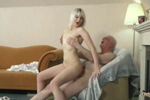 Miss Melissa sexy blonde nurse fucks geriatric at retirement home