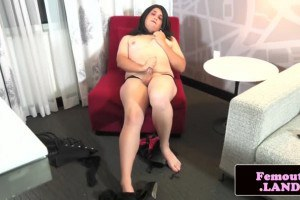Plussize trap jerking roughly tool in stockings