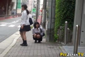 Japanese teens spied on while urinating in public