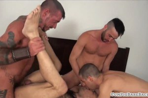 Hair covered wolf cumcovered and anally slammed
