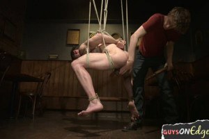 Muscly boy getting edged and teased
